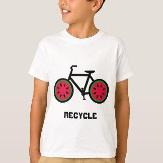 リサイクルのbycycleはTシャツをからかいます Tシャツ