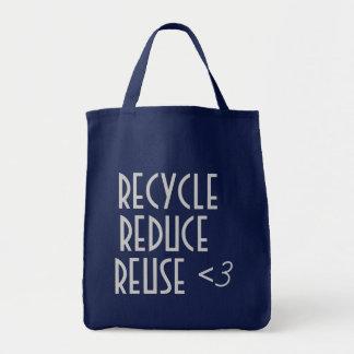 リサイクルは再利用のバッグを減らします トートバッグ