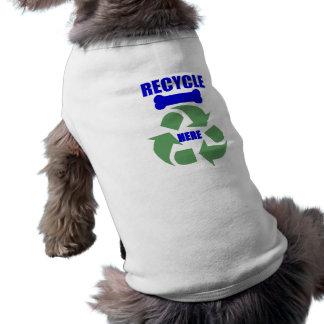 リサイクルは犬のワイシャツの骨を抜きます ペット服