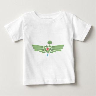 リサイクルハート翼 ベビーTシャツ