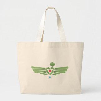 リサイクルハート翼 ラージトートバッグ