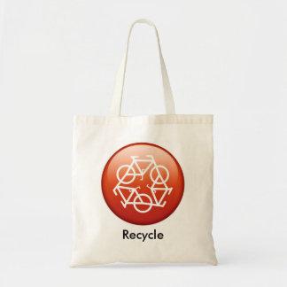 リサイクル赤い トートバッグ