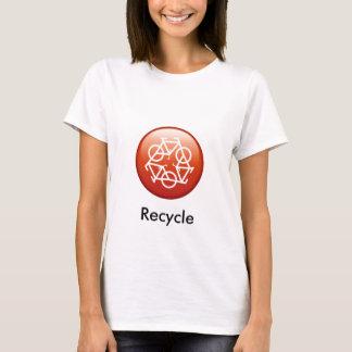 リサイクル赤い Tシャツ