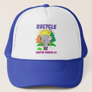 """リサイクル""""それらは価値があります"""" キャップ"""