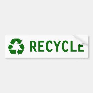 リサイクル バンパーステッカー