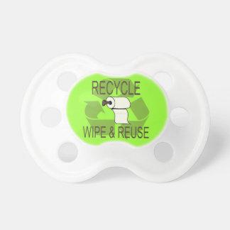 リサイクル-ワイプおよび再利用の調停者 おしゃぶり