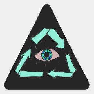 リサイクル! 三角形シール