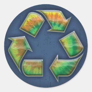 リサイクル-絞り染め ラウンドシール