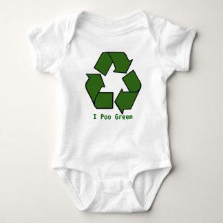 リサイクル、I Pooの緑 ベビーボディスーツ