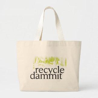 リサイクルdammit ラージトートバッグ