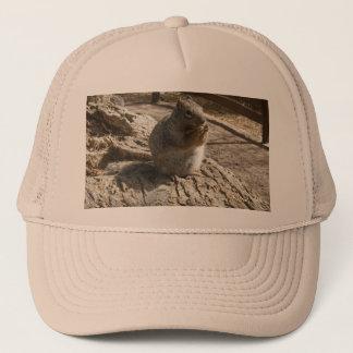 リスが付いている帽子 キャップ