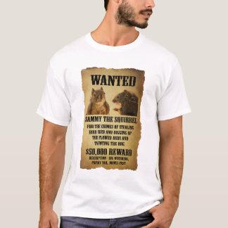リスが付いている望まれたポスター Tシャツ