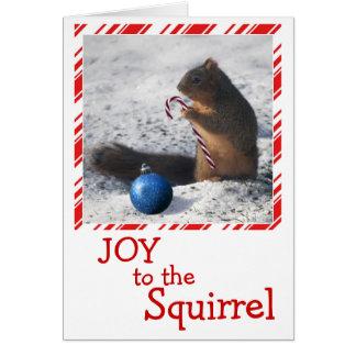 リスのクリスマスのオーナメントの挨拶状 グリーティングカード