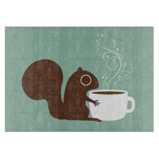 リスのコーヒー恋人 カッティングボード