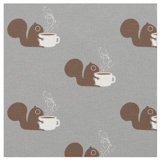 リスのコーヒー恋人 ファブリック