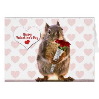 リスのバレンタイン カード