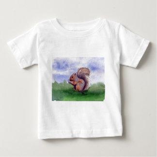 リスの勉強 ベビーTシャツ