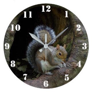 リスの時計 ラージ壁時計