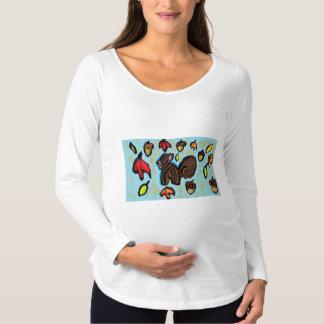 リスの芸術 マタニティTシャツ