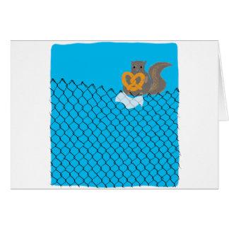 リスの食べ物のプレッツェル カード