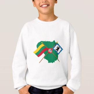 リスアニアおよびSiauliai郡旗、腕、地図 スウェットシャツ