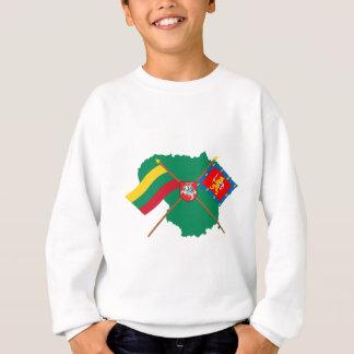 リスアニアおよびTaurage郡旗、腕、地図 スウェットシャツ