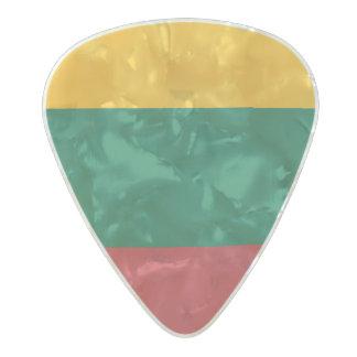 リスアニアのギターピックの旗 パールセルロイド ギターピック