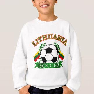 リスアニアのサッカーボールのデザイン スウェットシャツ