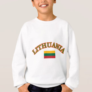 リスアニアのフットボールのデザイン スウェットシャツ