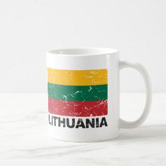 リスアニアのヴィンテージの旗 コーヒーマグカップ