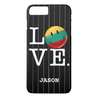 リスアニアの微笑の旗からの愛 iPhone 8 PLUS/7 PLUSケース