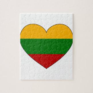 リスアニアの旗のシンプル ジグソーパズル
