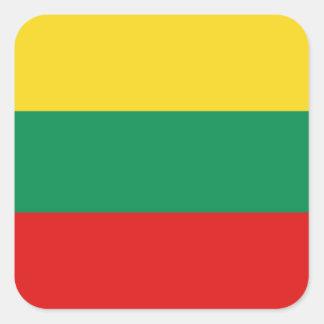 リスアニアの旗のステッカー スクエアシール