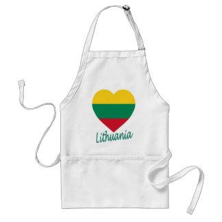リスアニアの旗のハート スタンダードエプロン