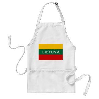 リスアニアの旗の国のlietuvaの文字の名前 スタンダードエプロン