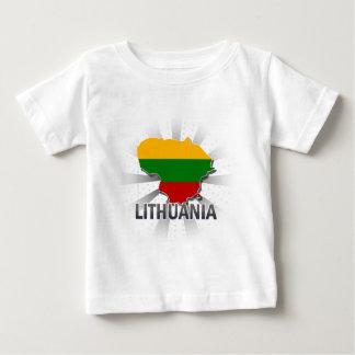 リスアニアの旗の地図2.0 ベビーTシャツ