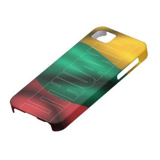 リスアニアの旗のIphone 5の穹窖の箱 iPhone SE/5/5s ケース