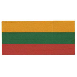 リスアニアの旗 ウッドUSBフラッシュドライブ