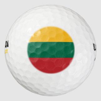 リスアニアの旗 ゴルフボール