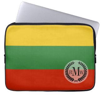 リスアニアの旗 ラップトップスリーブ