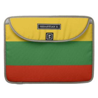 リスアニアの旗 MacBook PROスリーブ