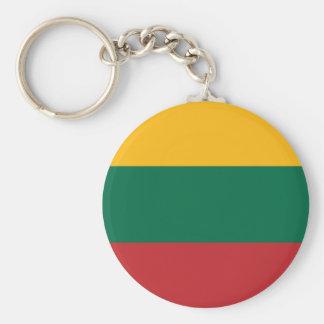 リスアニアの黄色緑そして赤旗 キーホルダー
