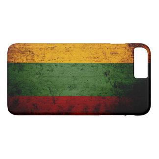 リスアニアの黒くグランジな旗 iPhone 8 PLUS/7 PLUSケース