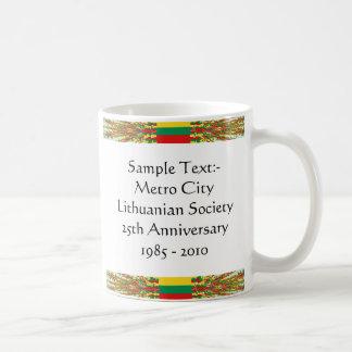 リスアニアのeTextの~のFlagcolorの地図のマグ コーヒーマグカップ