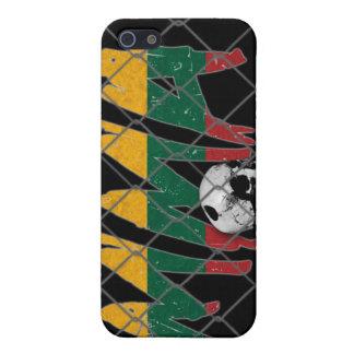 リスアニアMMAのスカルの黒のiphone 4ケース iPhone SE/5/5sケース
