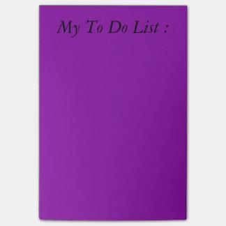 リストのポスト・イットをする紫色 ポストイット