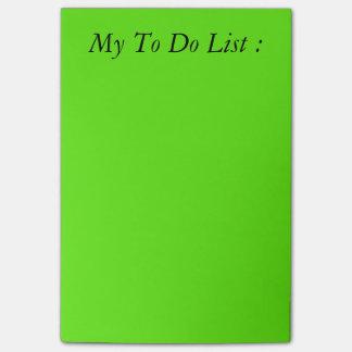 リストのポスト・イットをする緑 ポストイット