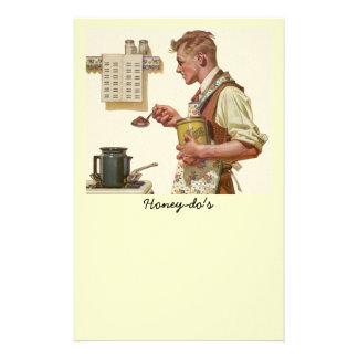 リストの紙をするヴィンテージのコーヒーメーカーHoneydo 便箋
