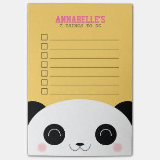 リストをするかわいいかわいいのパンダの顔の子供 ポストイット