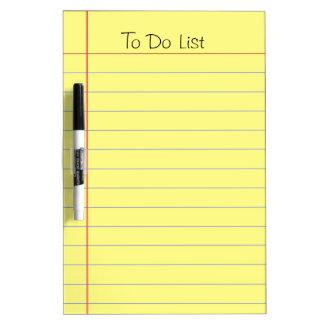 リストをするため ホワイトボード